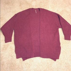Free people— LARGE —- raspberry color